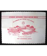 1960 Fort Leavenworth Kansas Placemat Officer F... - $5.93