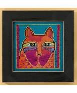 Wild Orange Cat linen cross stitch kit Laurel B... - $16.20