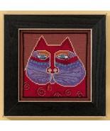 Red Cat linen cross stitch kit Laurel Burch Mil... - $16.20