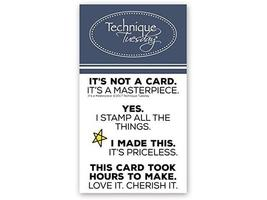 Technique Tuesday It's a Masterpiece (Sayings) Clear Stamp Set #IAMas