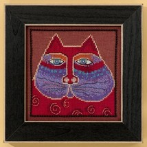 Red Cat aida cross stitch kit Laurel Burch Mill Hill - $16.20