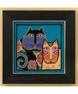 Feline Friends Cat Collection linen cross stitch kit Laurel Burch Mill Hill - $16.20