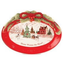 Fitz and Floyd Home Warms the Heart Cookie Plat... - $28.49