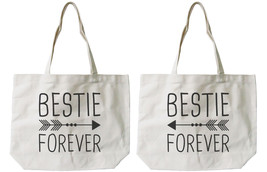 Bestie Forever BFF Matching Cotton Canvas Tote Bags - Eco Bags, Book Bags - $41.19 CAD