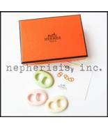 AUTH NIB Hermes TRIBORD TWILLY Scarf Ring Set V... - $350.00