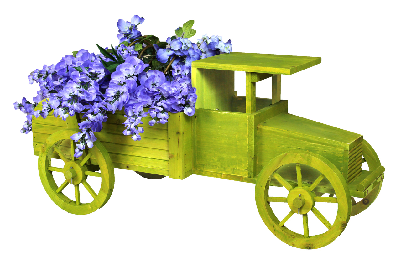 Small Car Planters : Old wooden car garden planter planters pots window boxes