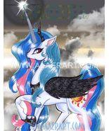 My Little Pony FiM Evil Princess Celestia Black Wing Orig Signed LE Prin... - $17.99