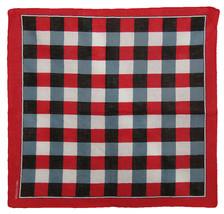 "22""x22"" Red/Black/White Plaid Checkered 100% Cotton Bandana - $6.88"