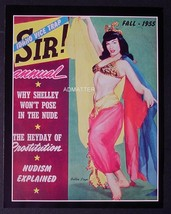 Bettie Page 2 Sided Pinup Sir Magazine Belly Dancer Photo & Musical Lp Print! - $4.74