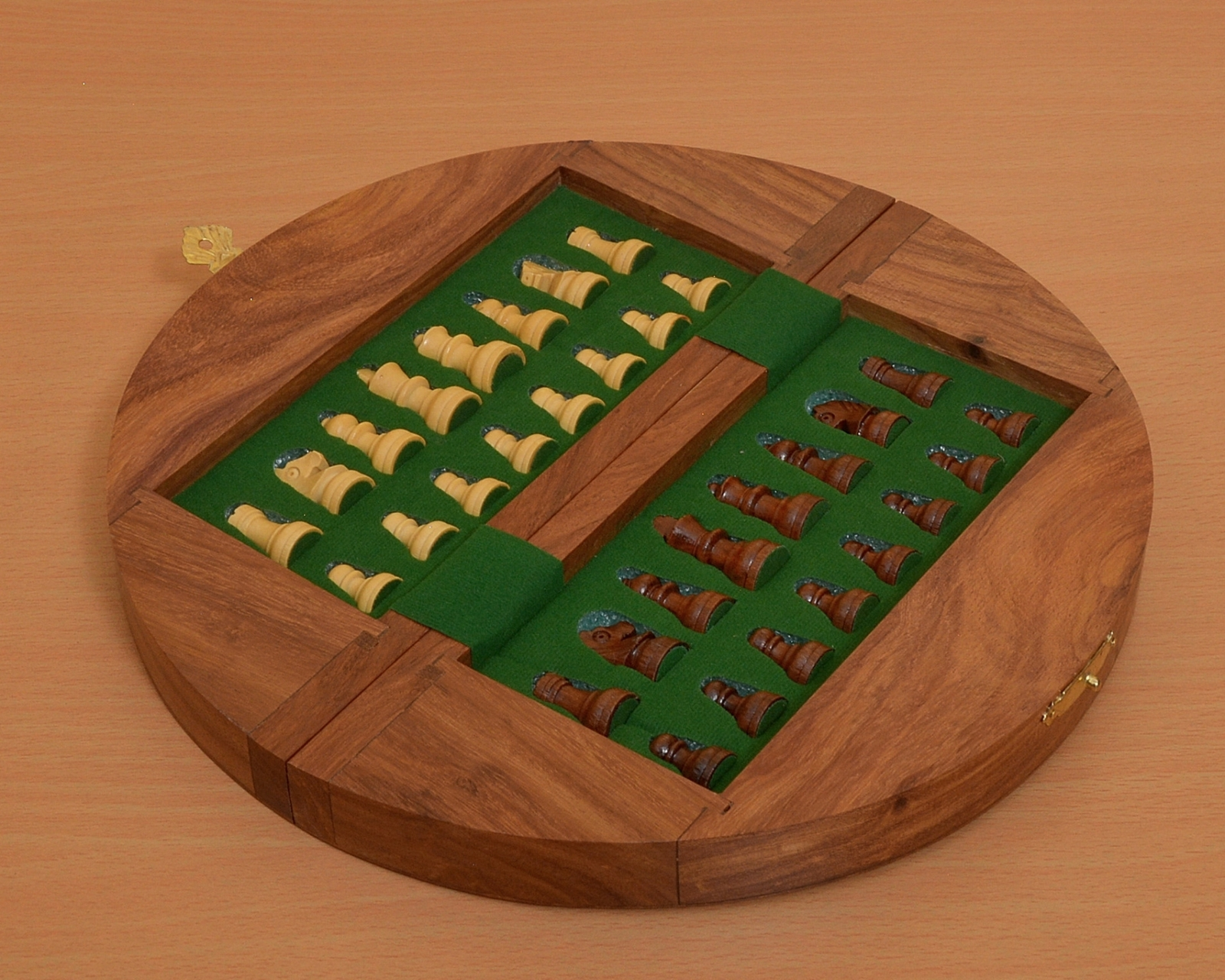 """Travel Series Wooden Folding Magnetic Chess Set in Sheesham Wood 9"""" Board- M0006"""