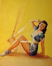 "Pearl Frush Pin Up Girl 8.5""X11"" Poster Sailing Sailboat Ocean Photo Art Print! - $9.89"