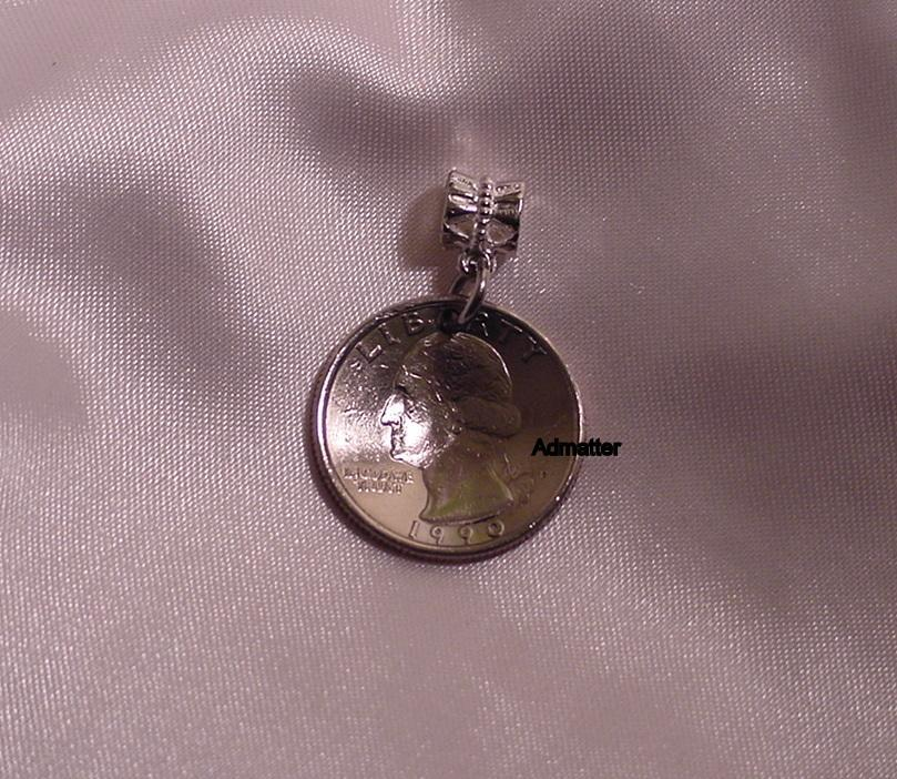 1974 QUARTER NECKLACE PENDANT CHARM COIN JEWELRY 41st BIRTHDAY ANNIVERSARY GIFT!