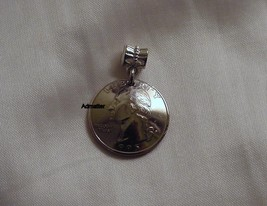 1984 Quarter 3 D Necklace Pendant Charm Coin Jewelry 31st Birthday Anniversary - $9.89
