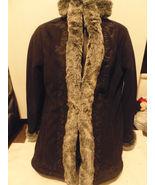 Ladies LL Bean Winter Suede Look Coat Faux Fur ... - $49.99