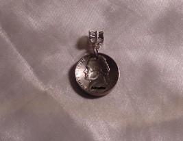 1961 Jefferson Nickel Pendant Charm Coin Jewelry 54th Birthday Anniversary Gift! - $5.93