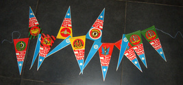 Vintage Israel Anniversary Independence Day Flag Chain 1960's IDF Symbols NOS image 2