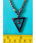 Hematite necklace triangle Philippine made - $7.43