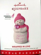 2016 Hallmark Keepsake Ornament - Wrapped In Love - Susan G. Komen  - $7.91