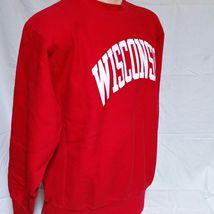 VTG Wisconsin Badgers Champion Reverse Weave Sweatshirt Crew Neck Jumper XXL 2XL image 6