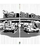 Curtains Mels Diner Retro Print Backdrop 15592 - $72.22