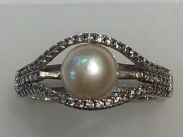 Sterling Silver 925 Freshwater Cultured Pearl Ring Solitaire Holiday Spe... - $19.99