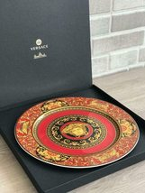 Versace by Rosenthal Porcelain Medusa Red Ikarus Service Plate 30 cm/12 In NEW - $225.00