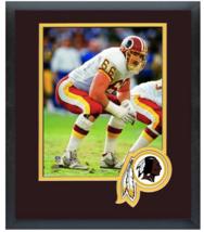 Joe Jacoby Washington Redskins Circa 1991 - 11 x14 Team Logo Matted/Fram... - $43.55