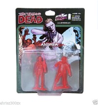 The Walking Dead Andrea Figure PVC Mini Translucent Red 2-Pack SET Limited - $33.67
