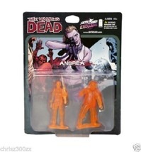 The Walking Dead Andrea Figure PVC Mini Translucent Orange 2-Pack SET Limited - $33.67