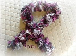 Purple Knit Ruffled Scarf - $15.00