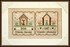 Furry Friends cross stitch chart Country Cottage Needleworks - $7.20