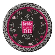 "Bridal Bash 8 9"" Dinner Plates Bachelorette Lingerie Shower Party - $4.61"