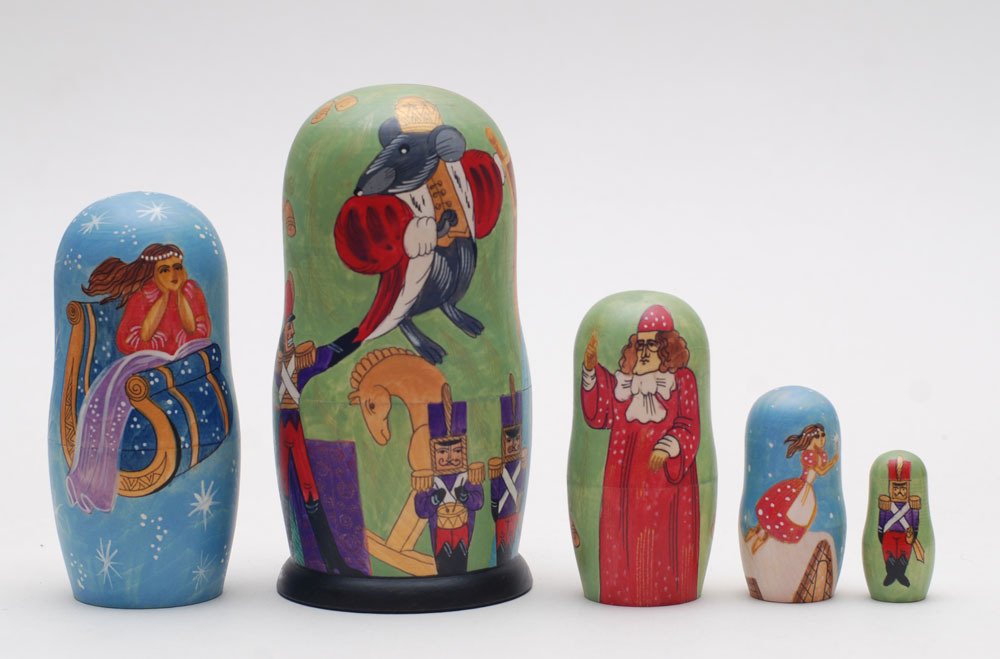 Exclusive matryoshka doll nesting doll Ballet The Nutcracker Tschelkunchik  6.6""
