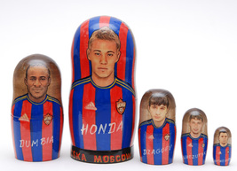 "Tska football nesting doll,6"" - $59.90"