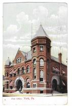 York PA Post Office Vintage Wheelock Postcard 1916 Flag Cancel - $5.70