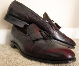 Johnston Murphy Aristocraft Tassel Loafers 11.5 B Leather Shoes Brown Ta... - $69.98