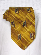 Robert Talbott Silk Tie Gold Jacobsons Gradient Geometric Hand Sewn Made... - $27.99