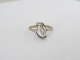 Vintage Sterling Silver Rhinestone Ring Size 6.75 - $18.00