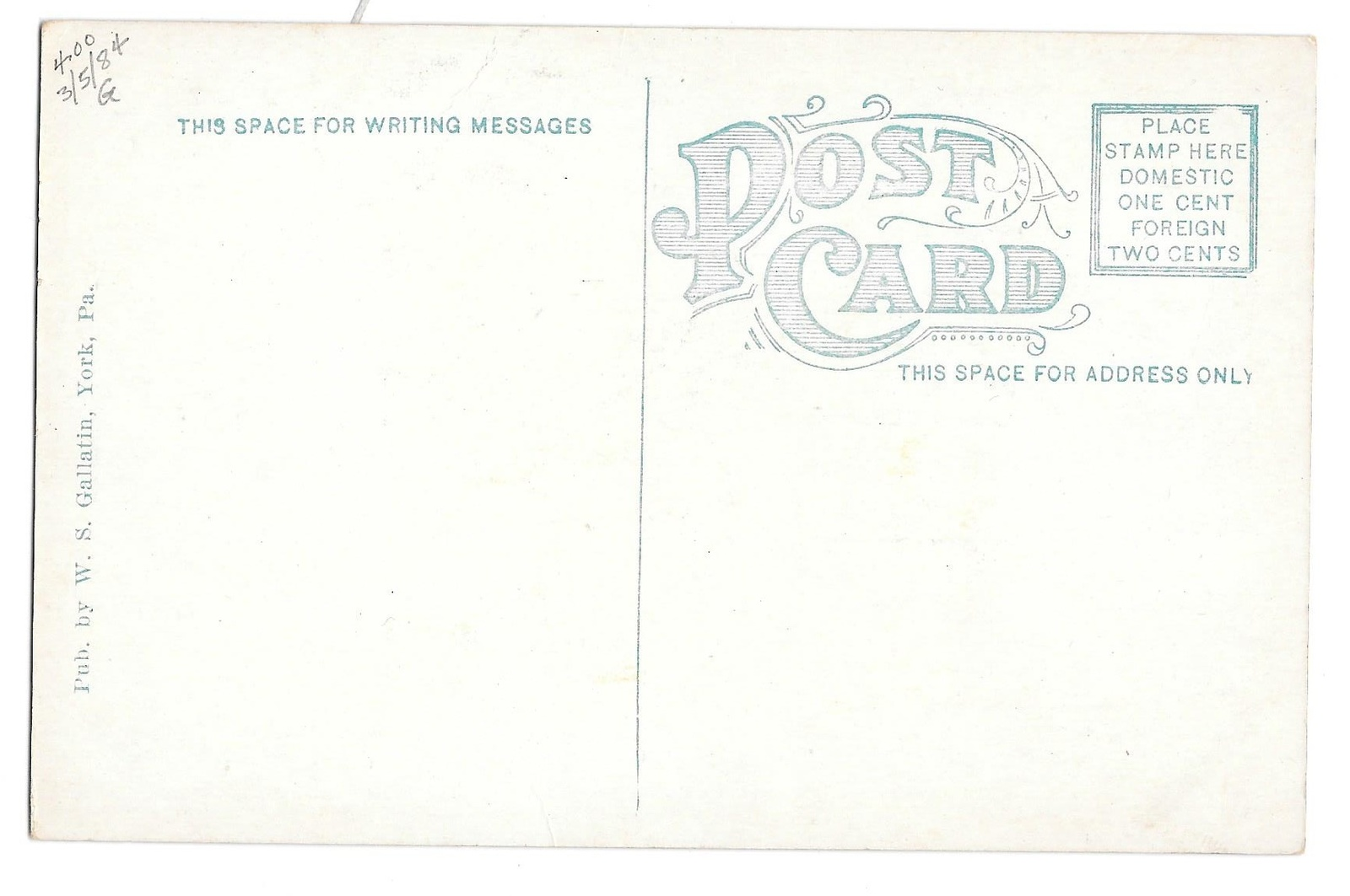 York PA US Post Office Interior Lobby Postmasters Office vintage Postcard