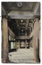 York PA US Post Office Interior Lobby Postmasters Office vintage Postcard - $6.69