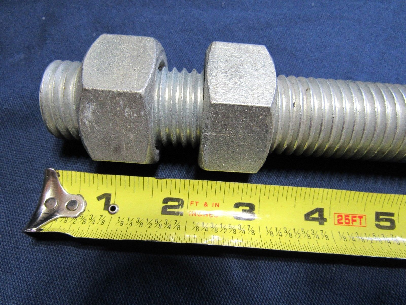 "19"" by 1 1/8""  Industrial Large Bolt Threaded Rod With Nuts Expansion Joint"