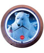 """Coca-Cola Polar Bear Neon Clock 15""""x15"""" - $69.00"""