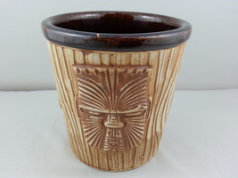 Vintage Tiki Mug - OMC  Three Face Bucket Mug - Made in Japan - $39.00