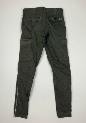 J Brand Cargo Jeans West Point Olive Green USA Women Sz 24 Ankle image 4