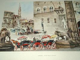 FIRENZE-PIAZZA DELLA SIGNORIA   Mario Carraro 19x13 - $122.50