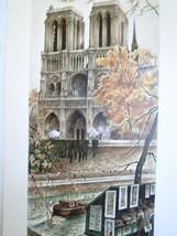 Paris Notre Dame Print  10x23  Ortiz Alfau (Art... - $38.21
