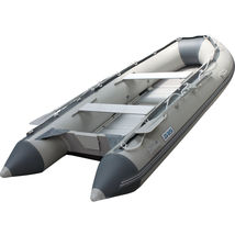 BRIS 10.8 ft Inflatable Boat  Raft Fishing Dinghy Tender Pontoon Boat Gray  image 1
