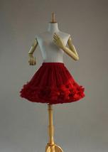 Red Layered Tulle Tutu Skirt Puffy Ballerina Tulle Skirt Ballet Skirt image 2