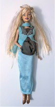 Mattel 1999 Vintage Barbie Doll With Aqua Green Dress Pre-owned No Box - $14.84