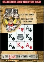 Square Shooters The First Deck of Cards on Dice Family Fun Board Game - $4.99